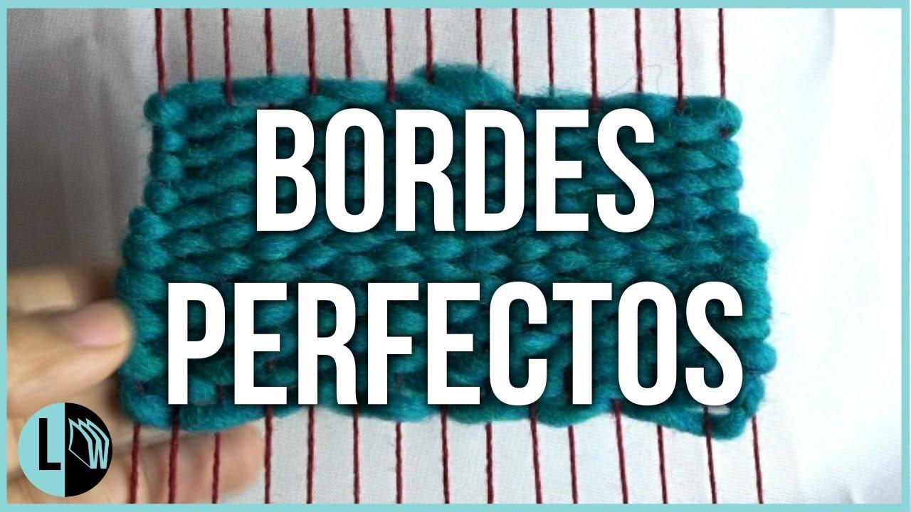 Telar Bordes perfectos. Tips Telares Decorativos paso a paso. Lana Wolle