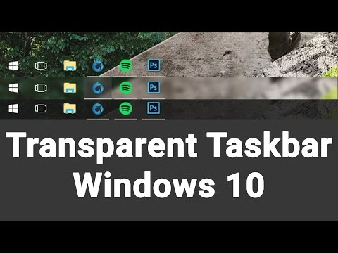 Make the Windows 10 Taskbar Transparent