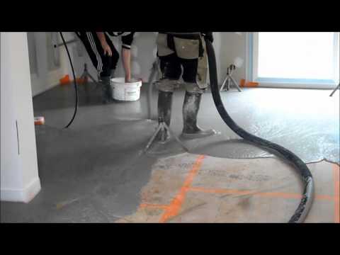 Coulage De La Chape Liquide - Youtube