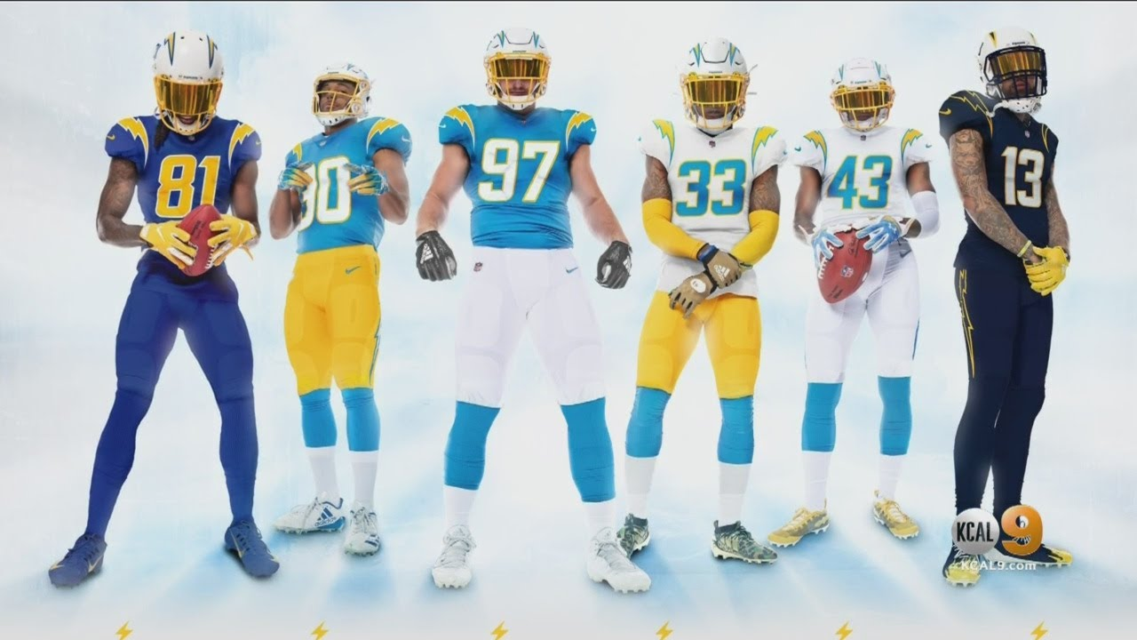 LA Chargers Reveal New Uniforms For 2020