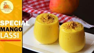 Special Mango Lassi | Mango Yogurt Drink | Healthy Beverage | Kesari Elaichi Mango Lassi