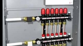 Модульный пластиковый коллектор Uponor(Описание монтажа системы отопления с помощью пластиковых коллекторов Упонор. Видео предоставлено компани..., 2011-12-22T06:24:52.000Z)