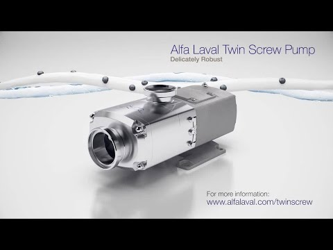 The New Alfa Laval Twin Screw Pump - Delicately Robust