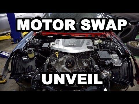 Finally revealing the motor swap.