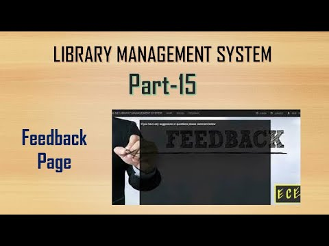 Library Management System Part-15 | Feedback/ Report  Page With HTML,CSS,PHP,my SQL