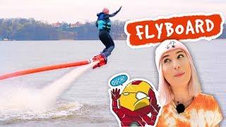 Jestę Iron Man'ę, czyli testuję FLYBOARD  Nakręcone Smakiem #3  | Agnieszka Grzelak Vlog