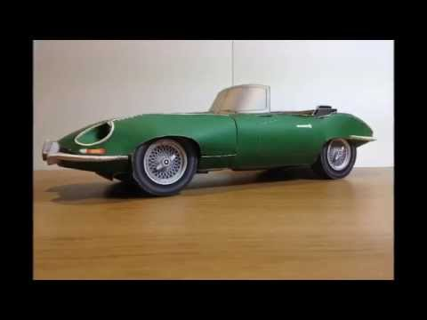 Papercraft Paper Craft Car -  Jaguar E-Type Roadster