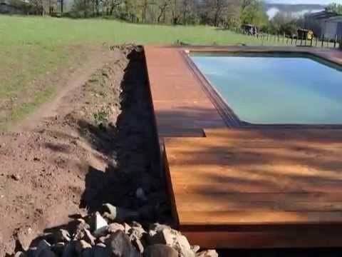Gte La Bouygue  ralisation de la terrasse autour de la piscine  YouTube