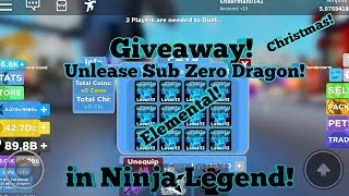 🎅New Christmas Update! 🎅 Giveaway Unlease Sub Zero Dragon in Ninja Legends