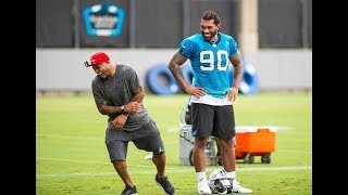Steve Smith at Panthers practice