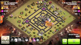 Clash of Clans - How To 3 Star the TH9 4 Corners Base