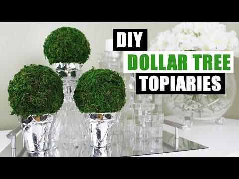 DIY DOLLAR TREE TOPIARIES | Dollar Store DIY Round Topiary | DIY Dollar Tree Topiary Home Decor