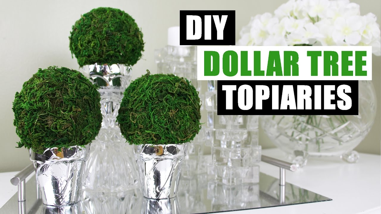Diy Dollar Tree Topiaries Dollar Store Diy Round Topiary