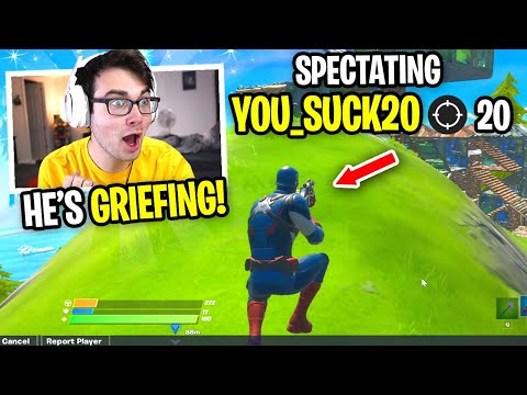 I Spectated This Player GRIEF EVERYONE In My Custom... (Fortnite Season 3)