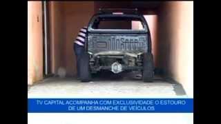 Polícia estoura desmanche de veiculos em Goiânia/GO
