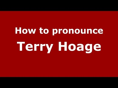 How to pronounce Terry Hoage (American English/US)  - PronounceNames.com