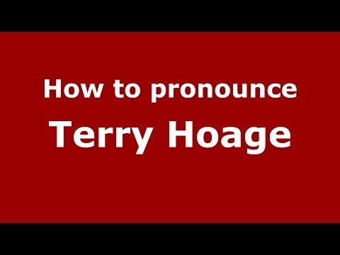 How to pronounce Terry Hoage (American English/US)  - PronounceNames.com