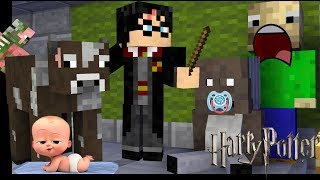 Monster School : Harry Potter , Granny , Baldi TODDLERS CHALLENGE  Minecraft Animation