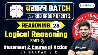 10:15 AM - RRB Group D/CBT-2 2020-21 | Reasoning by Deepak Tirthyani | Logical Reasoning (Part-3)