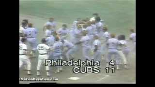 1979 Cubs BRAWL w/  Pete Rose and the Phillies at Chicago's WRIGLEY FIELD