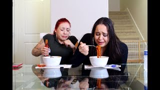 VOLCANO FIRE NOODLE CHALLENGE GONE WRONG! Ad | Salice Rose