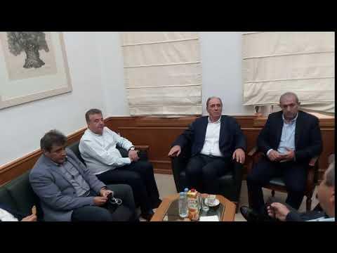 Σύσκεψη στην Περιφέρεια παρουσία του Γ. Σταθάκη