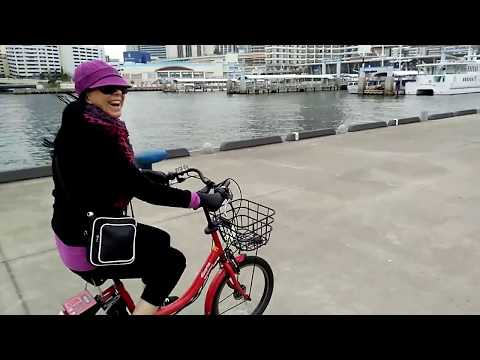 The great electric bicycle race Kobe Harbour Japan. Osaka, Kyoto & Sapporo have city hire bikes