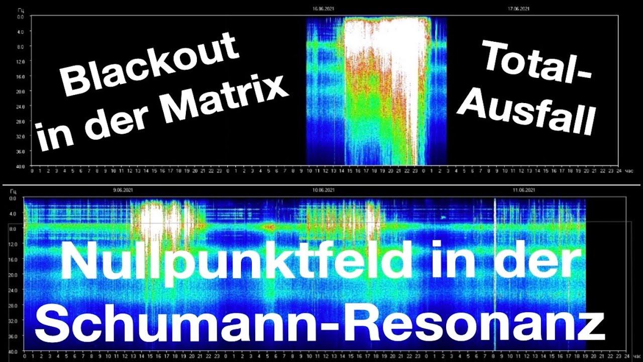 Blackout in der Schumann-Resonanz-Frequenz