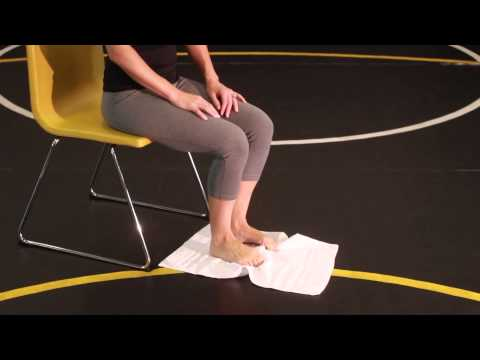 Towel Scrunches Exercise for Flat Feet Plantar Fasciitis and Toe strength