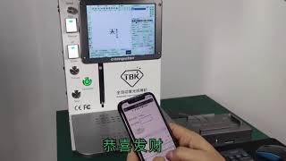 New version Tbk-958B laser separator back cover glass machine with APP control