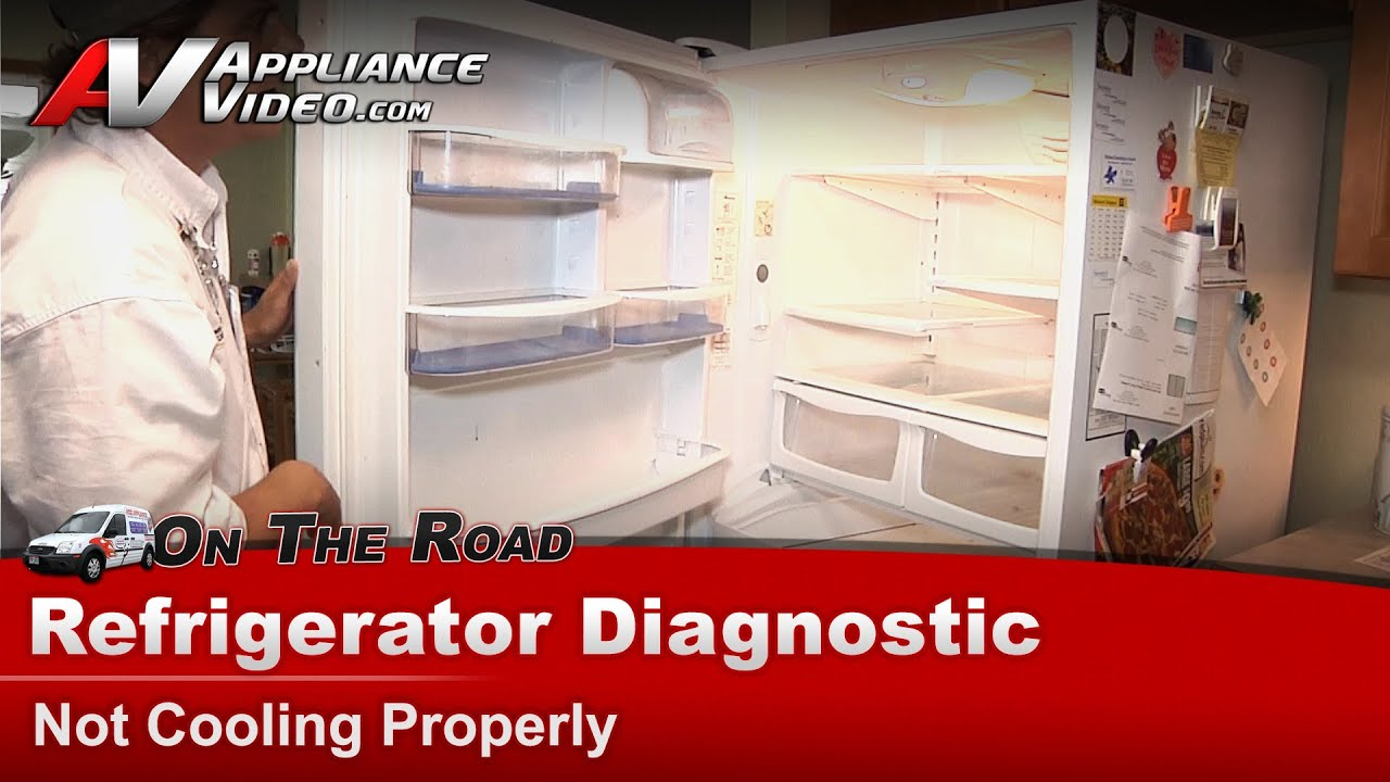 amana whirlpool refrigerator diagnostic repair not cooling properly [ 1280 x 720 Pixel ]