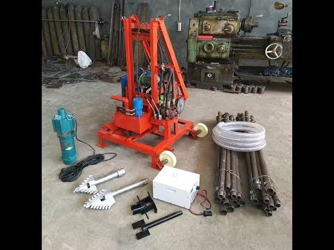 sunmoy diesel engine hydraulic portable water well drilling rig,borehole drilling rig