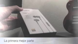 unboxing audfonos sony h ear in mdr ex750ap