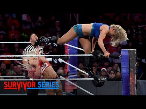 Charlotte Flair brutally powerbombs Alexa Bliss: Survivor Series 2017 (WWE Network Exclusive)