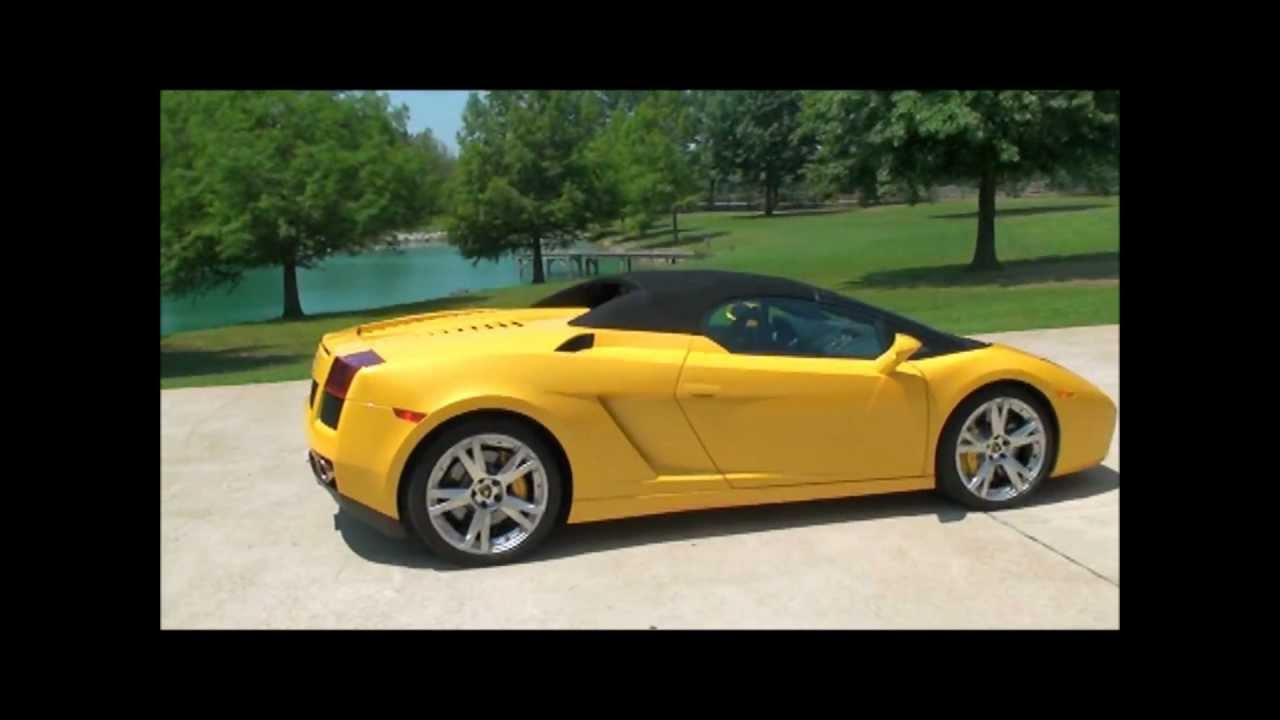 Marvelous 08 LAMBORGHINI GALLARDO SPYDER CONVERTIBLE V10 FOR SALE SEE  WWW.SUNSETMILAN.COM   YouTube
