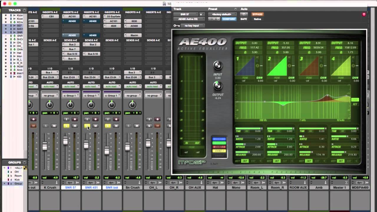Using The Mcdsp Ae400 Eq On Snare To Manage Hi Hat Bleed