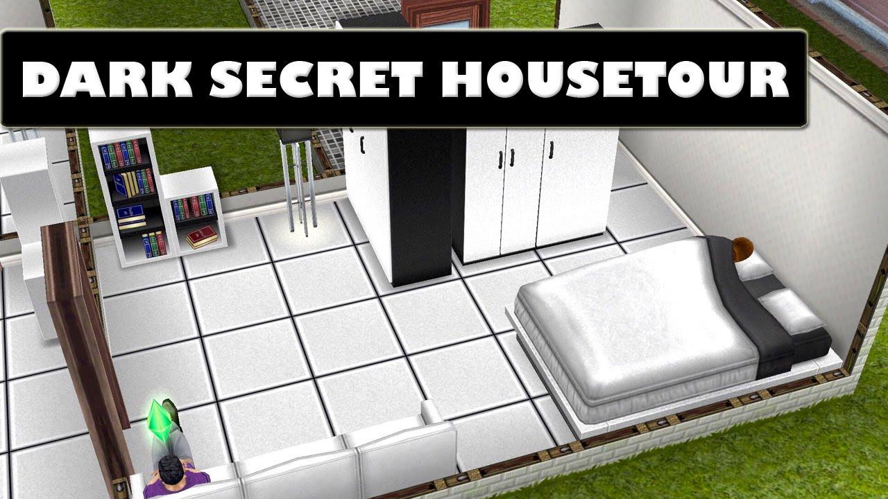 SIMS FREEPLAY DARK SECRET - PRE DESIGNED HOUSETOUR - YouTube