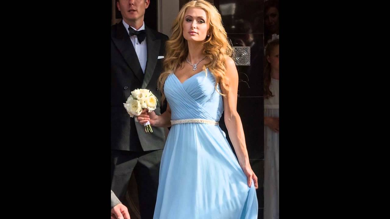 Paris hilton stuns in powder blue bridesmaid dress at her sister paris hilton stuns in powder blue bridesmaid dress at her sister nickys wedding ombrellifo Image collections