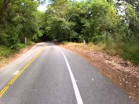 Shadow Cyclist: Route 9 climb, Saratoga, California