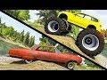 Beamng drive - Large vs Little Wheels #4