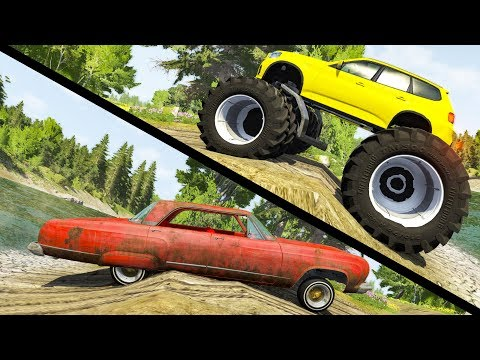 Beamng drive - Large vs Little Wheels #4