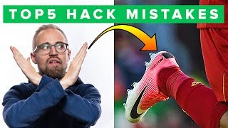 TOP 5 BOOT HACK FAILS - think before you do this to your football boots