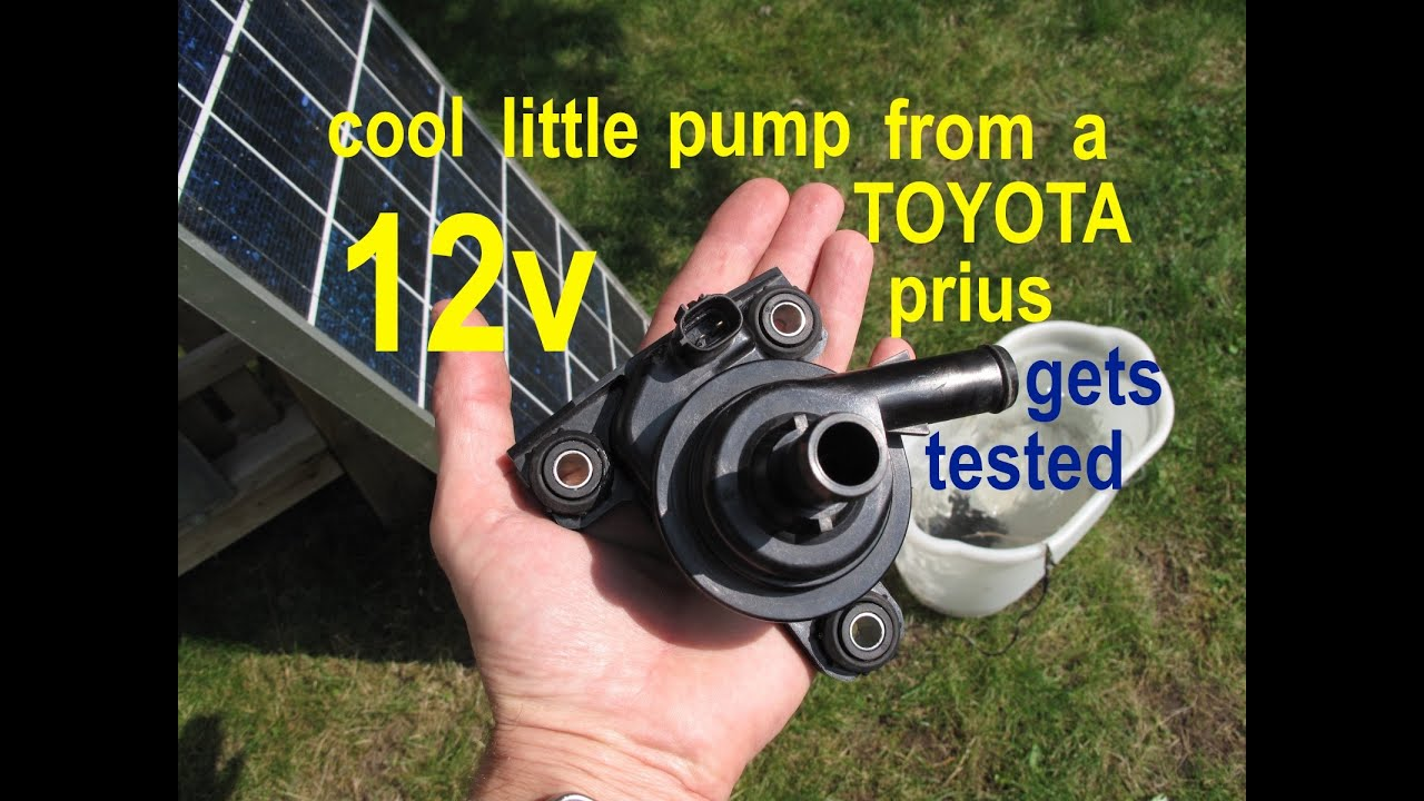 Amazingly Powerful 12volt Water Pump From A Toyota Prius