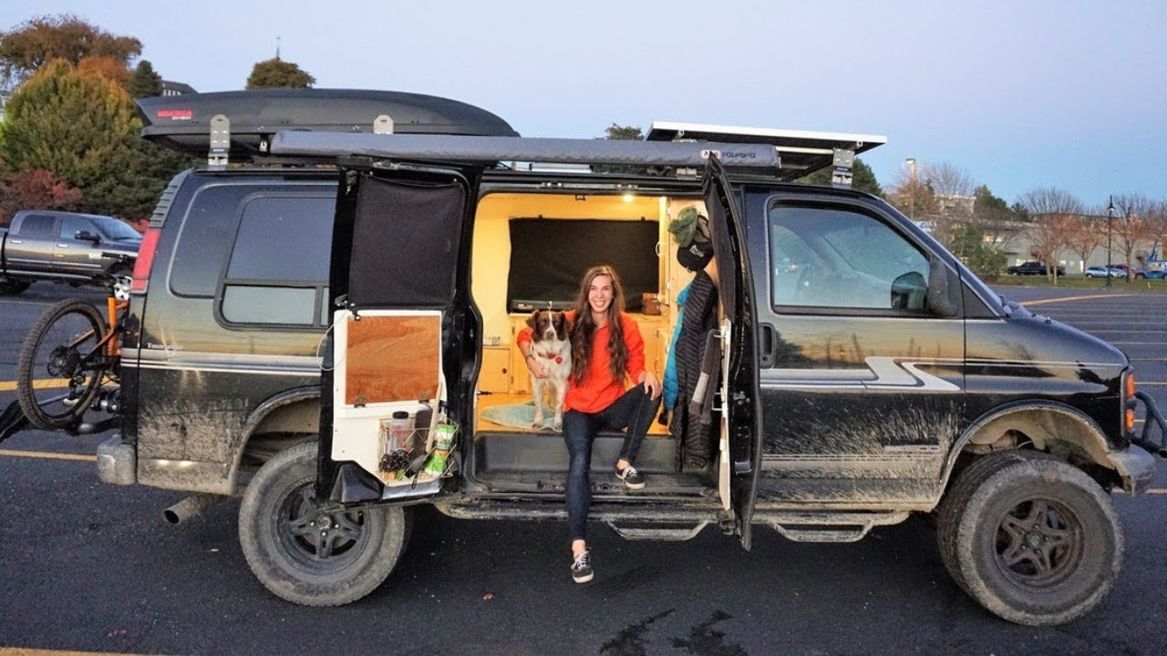 epic solo female mountain bike van conversion youtube epic solo female mountain bike van conversion