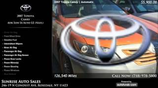 Used 2007 Toyota Camry | Sunrise Auto Sales, Rosedale, NY