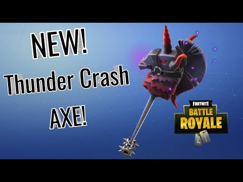 new thunder crash pickaxe sound and review - fortnite thunder crash pickaxe