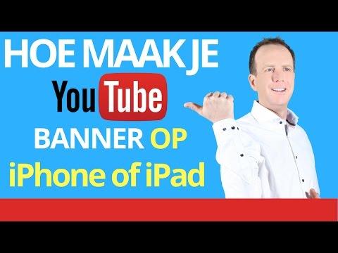 banner maken op telefoon banner maken op ipad youtube banner maken met ipad