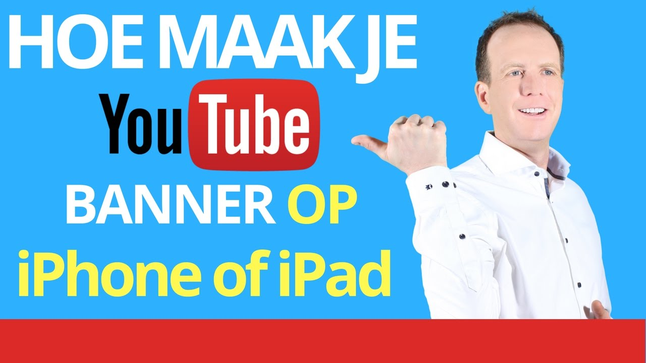 how to make a youtube banner on ipad
