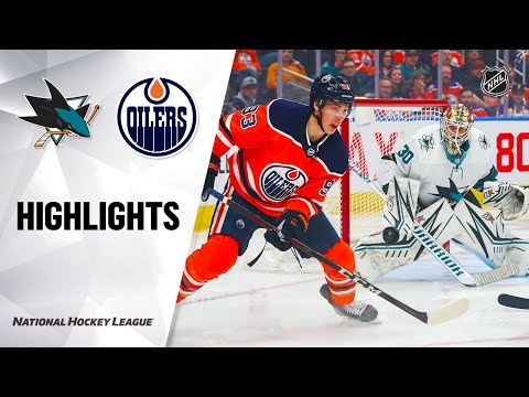 NHL Highlights | Sharks @ Oilers 2/6/20