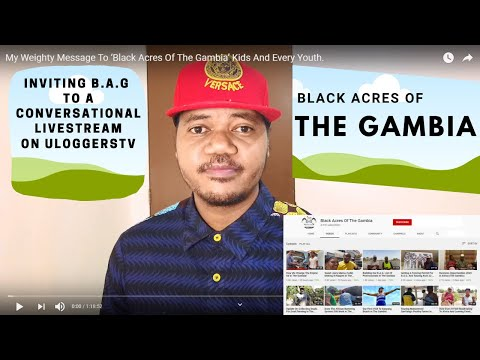 Ulog: My Invitation To 'Black Acres Of The Gambia To A Conversational Livestream. Why Join?